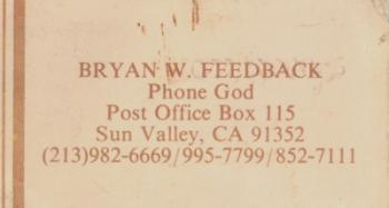 Bryan's Business Card